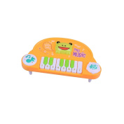 Lanlan Mini 10-Key Electronic Piano Play Music Toy Cute Cartoon Animals Music Toy for Children Intellectual Development yellow
