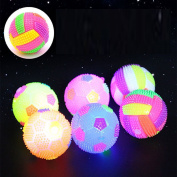 Colourful Baby Kids Balls Toy - Soft Light-up and Sound Vollerball Bouncing Balls Children Luminous Toy Flashing Party Balls for Boys and Girls Gift