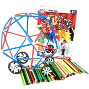 WEKA 283Pcs 4D Straw Interlocking Plastic Building Block Bricks Sets Educational Construction Toys for Kids Children Boys & Girls
