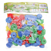 WEKA 70Pcs Plastic Colours Building Block Bricks Sets Enlighten Educational Construction Toys for Kids Children Boys and Girls