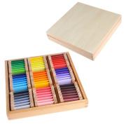 Baby Toy Montessori Wood Colour Tablet 3rd Box Early Childhood Education Preschool Training Kids Toys Brinquedos Juguetes