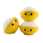 ZZSYU Cute Creative Smiley Rice In The Bowl Very Soft Slow Rising Squeeze Rare Kid Toy