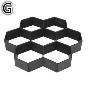 Inverlee Gardening 8/9 Random Grids DIY Pathmate Stone Mould Paving Concrete Stepping Pavement Paver for Garden Lawn Road