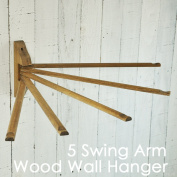 "The neighbourhood of ""five wooden wall hangers"" antiqued / Wood towel bar swing towel hanger movable kitchen"