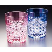 KAGAMI CRYSTAL Edo cut glass pair lock glass TPS370-2835-AB