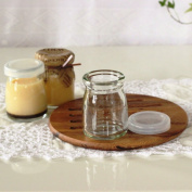 1 xDessert glass jar yoghurt with lid