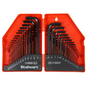 30 PC Hex Key Wrench Set - Combo SAE & Metric by Stalwart