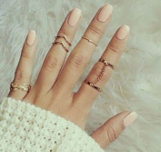 Sc0nni 12pcs Women Stack Rings Knuckle Nail Ring Set