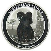 Australian koala 1 dollar silver coin 2017 UNC