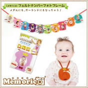 Memo Rico felt number photoframe photo frame baby birthday 1 year old 2 years old 3 years old half birthday man and woman taking a ceremonial photograph [more than warehouse A] _house party _