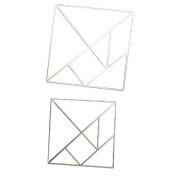 Metal Cutting Dies Stencil,vmree 2PCS Jigsaw Plywood Cut Paper Card DIY Cutting Template Metal Moulds