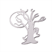 Metal Cutting Dies Stencil,vmree Happy Halloween DIY Scrapbooking Embossing Album Paper Card Craft