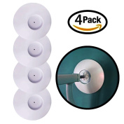 4 Pack Pressure Gate Wall Guard By Lebogner - Wall Guard Pads Installation For Doors, Stairs, Walls and All Surfaces For Baby, Pet Safety Gates, Wall Protection Cups For Pressure Mounted Gates