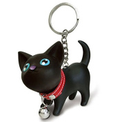 xlpace Fashion Cat Kitten Keychain Keyring Bell Toy Lover Key Chain Rings For Handbag