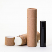 45ml Kraft Paperboard Lip Balm/Salve/Cosmetic/Lotion Tubes x100