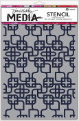 Dina Wakley Media Stencils 23cm x 15cm -Linking Pattern