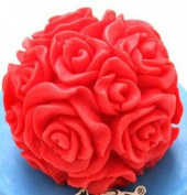 Silicone moulds for cake decorating Wedding Party 3D small rose ball shape chocolate candle form handmade soap mould S0043HM25