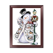 Misright Cute 5D Diamond Painting Christmas Snowman Embroidery DIY Cross Stitch Xmas Decor New
