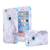 iPhone 6/ 6s Case, VPR Marble Stone Pattern Design 3 in 1 Hybrid Cover Hard PC Soft Silicone Rubber Heavy Duty Shock Absorbing Protective Defender Case for iPhone 6/ 6s (4.7 inch)