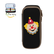 Mybox Clown Face Cube Pen Case Pencil Box Soft Canvas Student Stationery Office Storage