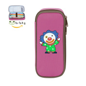 Mybox Clown Baby Cube Pen Case Pencil Box Soft Canvas Student Stationery Office Storage