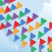 MAGICMAI Pennant Flags Banners Multi-colour Nylon Triangle Flags with Thick String For Party Festival Decorations Outdoor decor