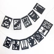 Halloween Silhouette Cardstock Banner