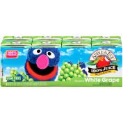 Apple & Eve Sesame Street Grover's White Grape Juice, 130ml, 8 count,