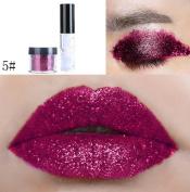 FANOUD Shimmer Glitter Lip Gloss Powder Lipstick Cosmetic Eye Shadow