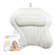 Bath Pillow for Tub, Extra Large Size Pillow Bath Cushion for Bathtub, Hot Tub, Jacuzzi, Home Spa Non-slip Luxury Support for Head, Neck, Back and Shoulders, 6 Strong Suction Cups