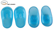4Pcs / 2Pairs Silicone Protector Ear Covers Hair Dye Ear Shield (Blue) for Spa, Home Use, Hotel and Hair Salon by DAXUN