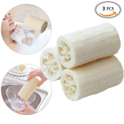 3 Pack Loofahs Spa Exfoliating Scrubber Best Luffa Body Wash Sponge Remove Dead Skin (10cm Length) by DAXUN