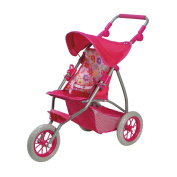 Adora Baby Doll Accessories Adjustable Handle 3-Wheel Shade Jogger with Under Storage Stroller