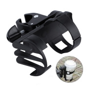 Black Plastic Baby Stroller Parent Console Organiser Cup Holder Buggy Jogger Universal