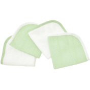 TL Care Cotton Terry 4-Piece Washcloth Set, Celery