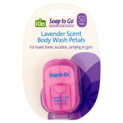 iGo Soap to Go Lavender Scent Body Wash Petals, 50 count