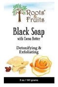 Roots & Fruits By Bio Nutrition Black Soap, Cocoa Butter & Orange Peel, 150ml