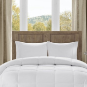 Bibb Home Microfiber Overfilled Down Alternative Comforter, Chequered White