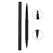 Vinmax 2 in 1 Eyeliner and Eyebrow Pencil,Waterproof Automatic Eye Makeup Cosmetic Tools Black Gel Liquid Eyeliner Pen Makeup Eyebrow Colouring Kit Set