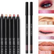Colourful Glitter Shimmer Eyeliner Eyeshadow Eyebrow Lip Pencil Multifunctional Pen Makeup Cosmetic Waterproof Easy To Colour