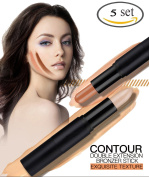 Double Extension Contour Stick with 10 Colours Cream Contour and Highlighting Makeup Kit Concealer Stick Contouring Foundation Cosmetics