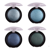4 Colour/Set Single Baked Shimmer Metallic Eyeshadow Palette Eye Shadow Powder Style B
