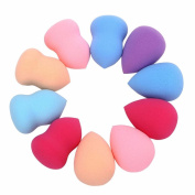 RNTOP 10pcs Pro Beauty Makeup Blender Foundation Puff Multi Shape Sponges