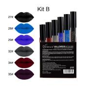 Best-topshop 6Pcs Halloween Liquid Lipstick Set, Matte Gothic Waterproof Long Lasting Lip Gloss Party Dress up Gift for Women Girls Christmas
