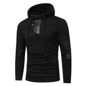 Mens' Autumn Winter Pullover Patchwork Hoodie Hooded Sweatshirt Tops Jacket Coat Outwear By Orangeskycn