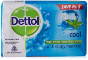Dettol Cool Bar Soap for Healthy Skin Pack of 3