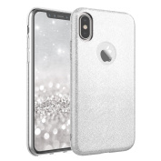 iPhone X Case , Moonmini Sparkling Bling Glitter Ultra Slim 3 in 1 Dual Layer Soft TPU Silicone Full Body Protective Hybrid Case Cover Shell for iPhone X