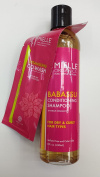 Mielle Organics Babassu Conditioning Shampoo for Dry and Curly Hair Types Sulphate Free and Colour Safe 240ml and Detangling Co-Wash 10ml Trial Size