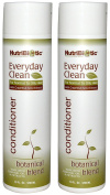 NutriBiotic Everyday Clean Botanical Blend Conditioner (Pack of 2) with Grapefruit Seed Extract, Calendula, Chamomile and Yucca, 300ml