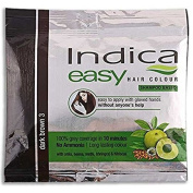 5 Pc Indica Easy10 Minutes Herbal Hair Colour Shampoo BaseDark Brown Herbs